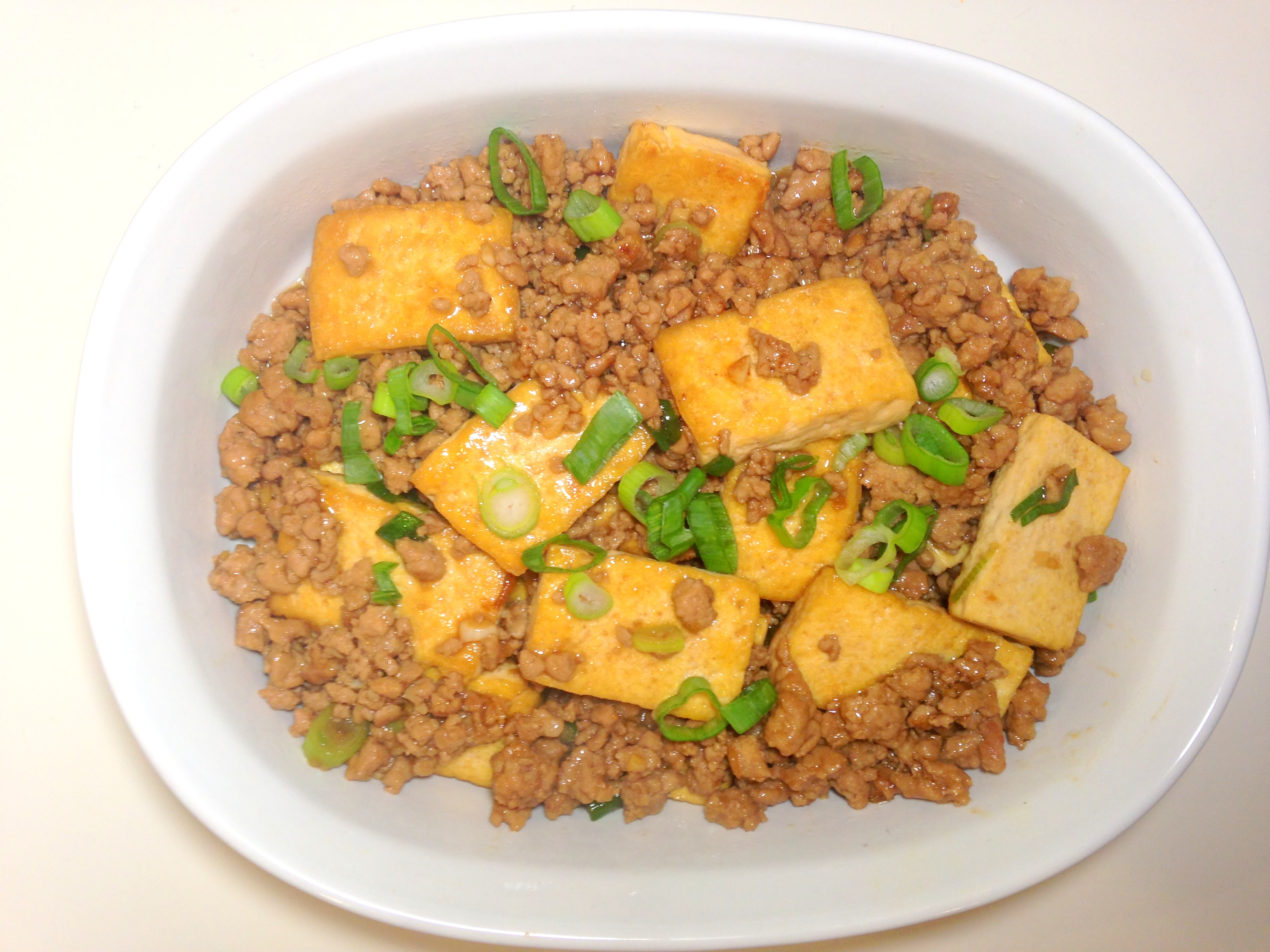 Chinese braised tofu with ground pork | delish thoughts